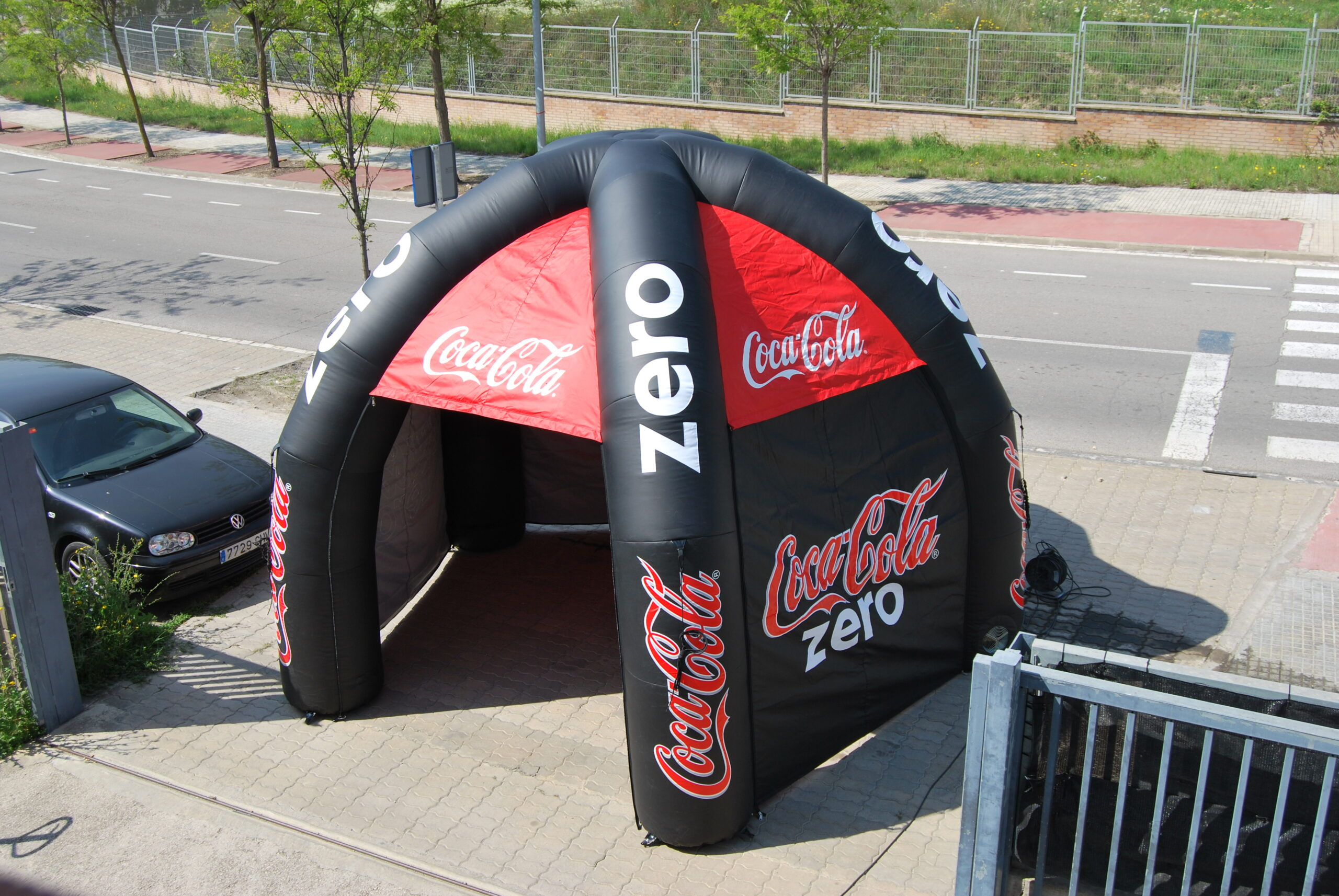 Carpa Hinchable Spider  Coca-Cola