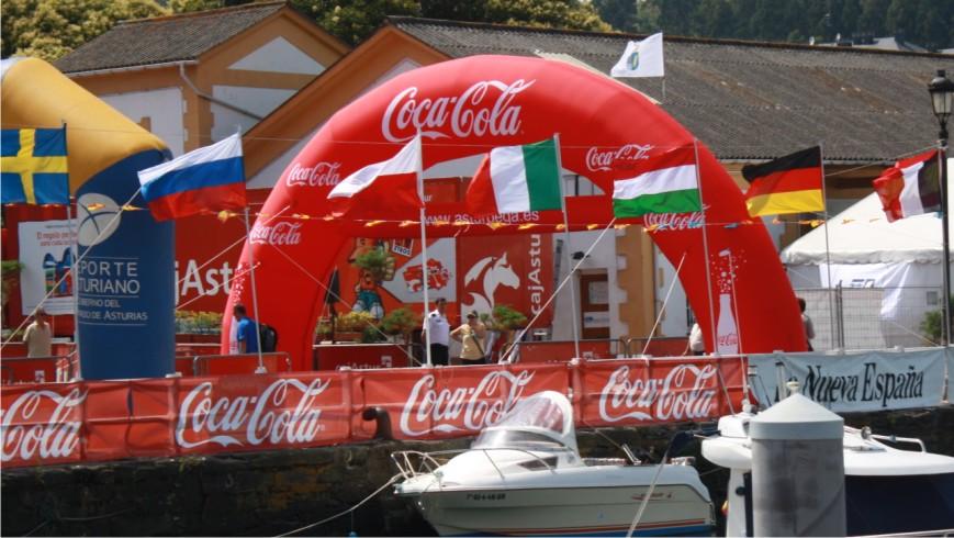 Arco De Meta Hinchable Coca-Cola