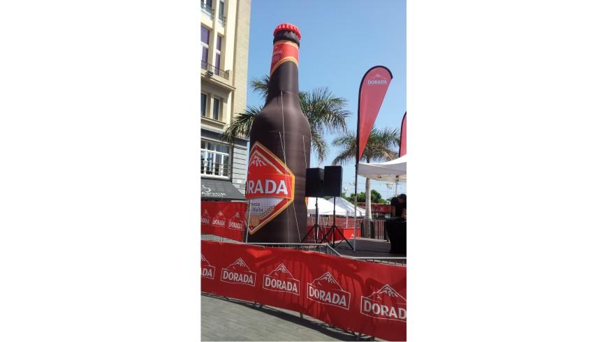 Botella Hinchable Dorada