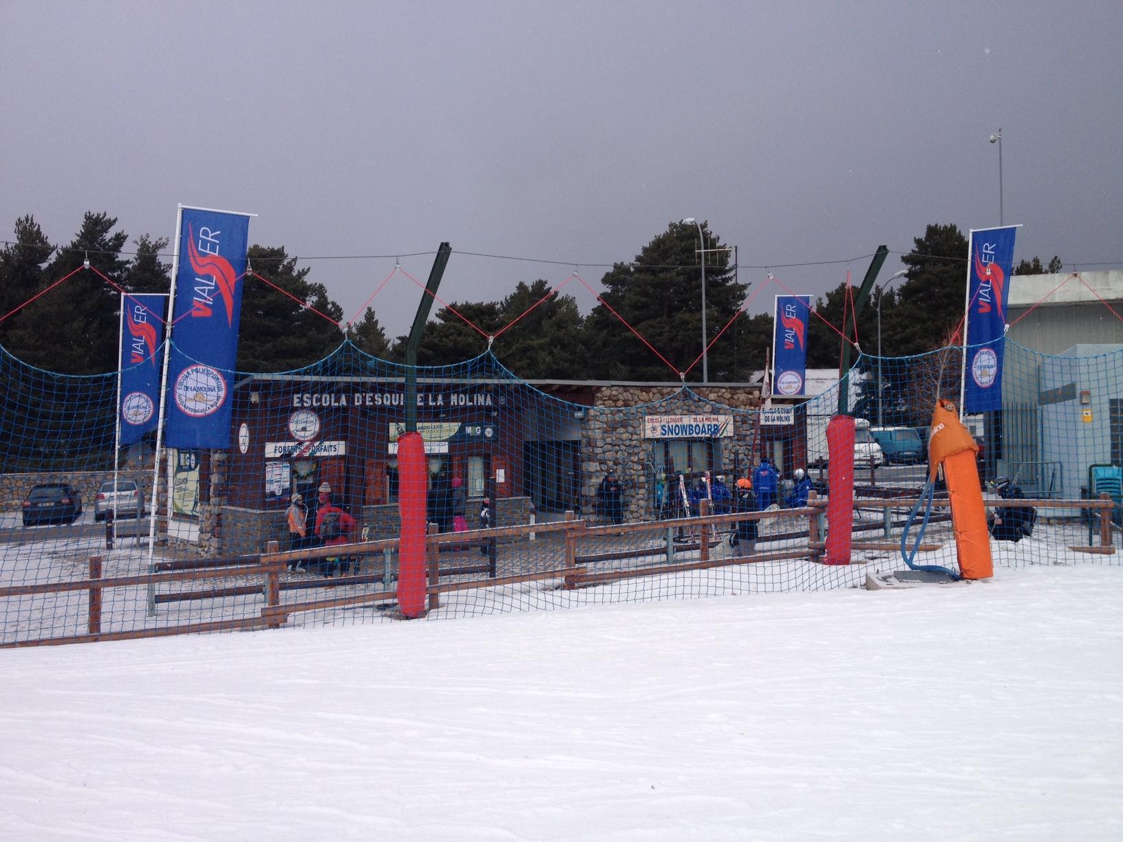 Flag 400x110cm  Escola Esqui