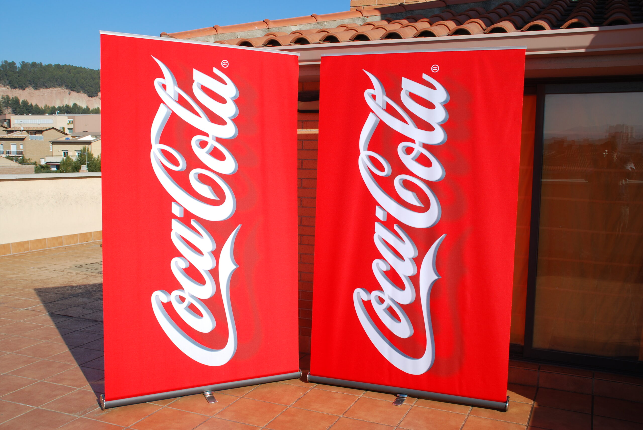Roll-up COCA-COLA 3D