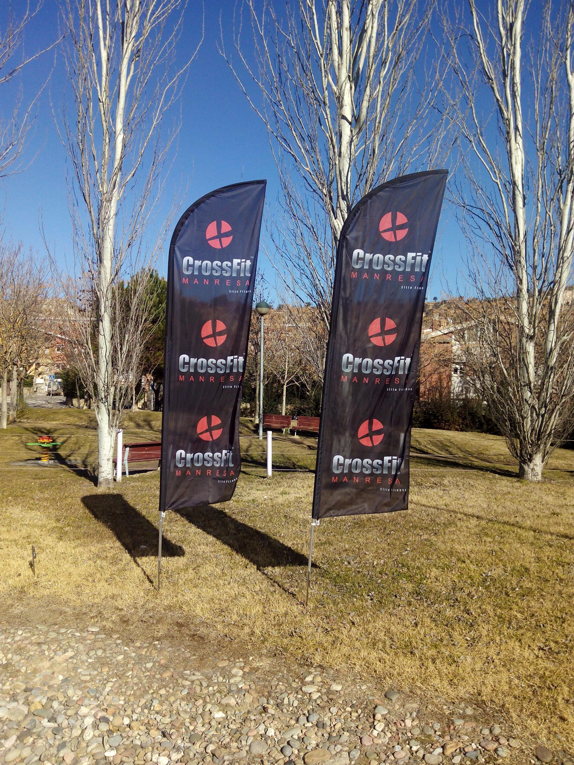 Banderas Wing Banner CrossFit Manresa Y Vela Club Manresa