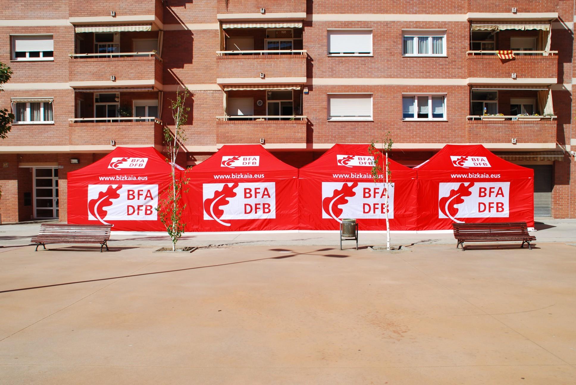 Carpas Plegables Fabricadas Para La Diputación De Bizkaia